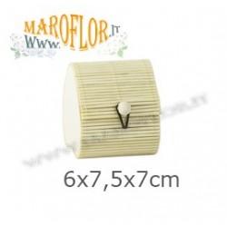 Astuccio Scatola in Bamboo a forma di Cuore 7cm