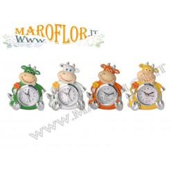 Stock Orologio Mucca in Resina 12cm 4 colori assortiti