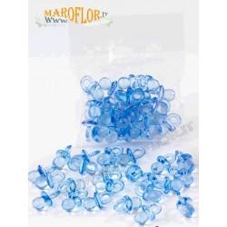 Ciuccio Celeste Azzurro Piccolo in Plastica set 24 pezzi