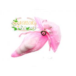 CONI ROSA con FIORELLINO con confetti OREFICE mandorla e cioccolato bianco