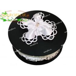 Bomboniere PortaConfetti Coccarda Bianca 5 Petali per 5 Confetti senza confezione