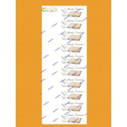 10 Bigliettini Bomboniere per Cresima cm 9,5x2,5 da stampare al pc o scrivere a mano