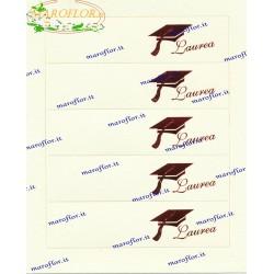 5 Bigliettini Bomboniere Laurea prefustellati da stampare al pc o scrivere a mano