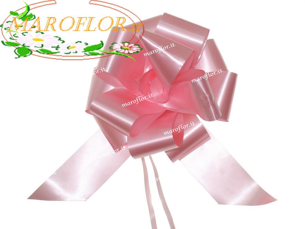 50 coccarde rosa h3cm nastri fiocchi per lauree cresime - Fiocchi per coprisedie ...