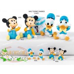 Bomboniere Walt Disney Donald Paperino 3,5cm Battesimo Nascita Azzurre