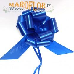 50 Coccarde h3cm Nastri Fiocchi Blu per Sposi, Auto, Addobbi
