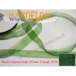 Nastro in Organza Verde 20 mm x 50 metri Bomboniere