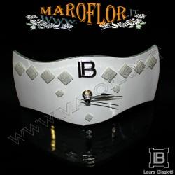 Bomboniera Matrimonio Orologio 19cm Fabia FB043 Anniversari Nozze D argento