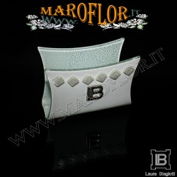 Bomboniera Matrimonio Portatovaglioli h7,5 Fabia FB072 Anniversari Nozze d argento
