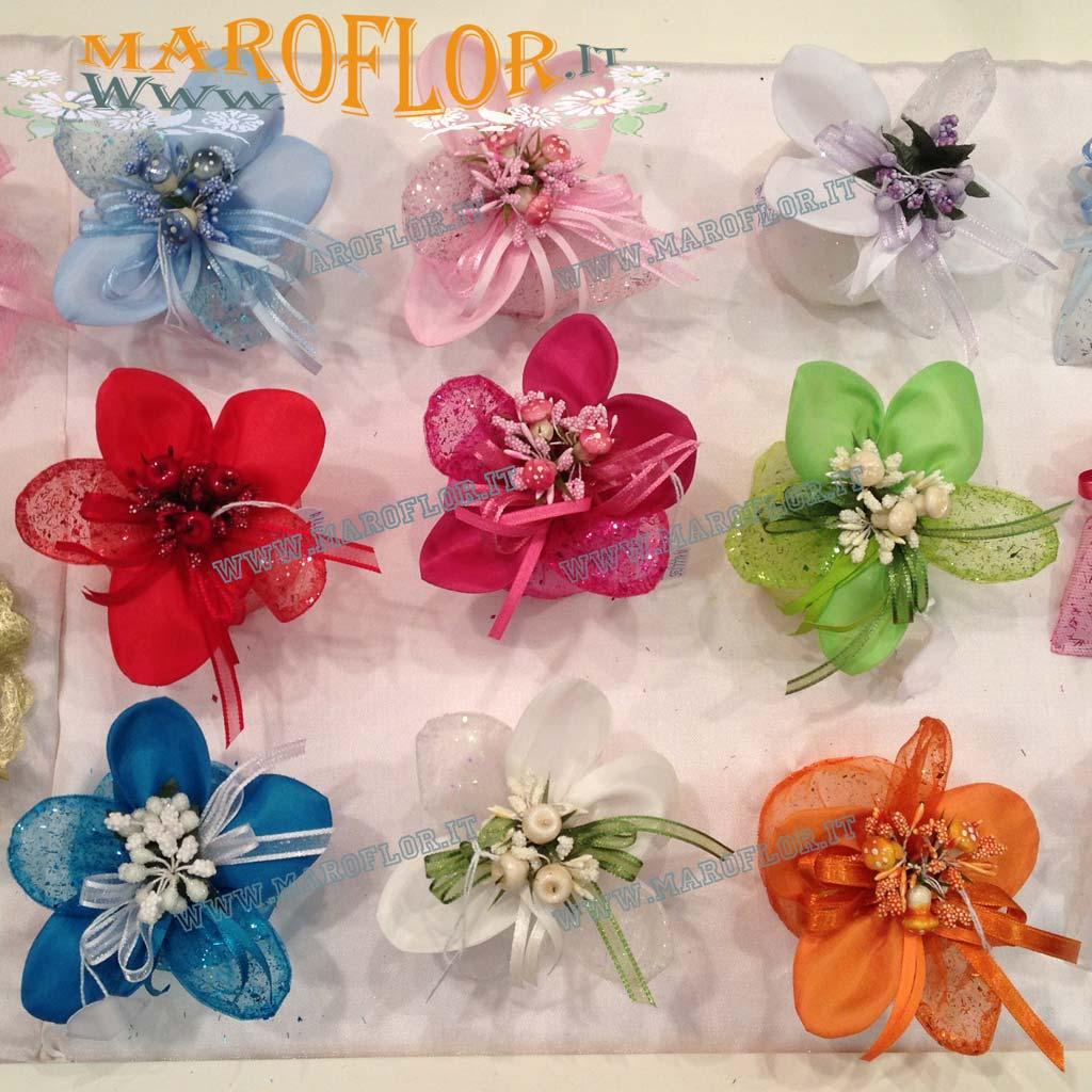 Bomboniere Matrimonio Telefono Azzurro : Bomboniere sacchettino portaconfetti glitter fiore in