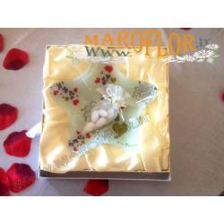 Bomboniera Via Veneto Stock Stella 20cm linea Vetro Cuore per Matrimoni sposi Anniversari