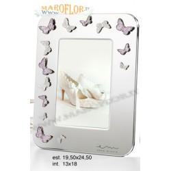 Bomboniere Enzo Miccio Portafoto 24cm Silver Butterfly