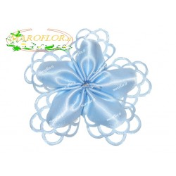 Coccarda Portaconetti colorata Azzurra con confetti Orefice