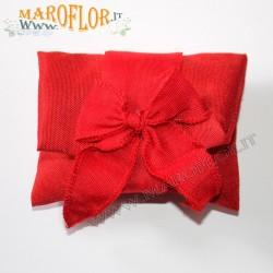 Busta Rossa Sacchetto Segnaposto Ringraziamento in Tessuto