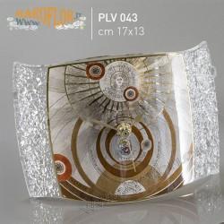 Bomboniera Gattinoni PLV043 Orologio da tavolo in vetro 17cm linea Planetarium Brown