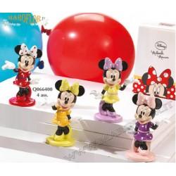 Bomboniere Walt Disney Topolina Minnie 10cm Resina Porcellanata Lucida Colorata