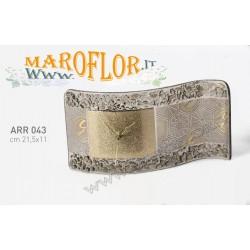 Bomboniera Gattinoni ARR043 Orologio da tavolo linea Arrakis in Vetro di Murano