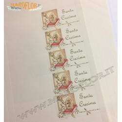 20 Bigliettini Bomboniere Santa Cresima su foglio A4 da stampare al pc o scrivere a mano