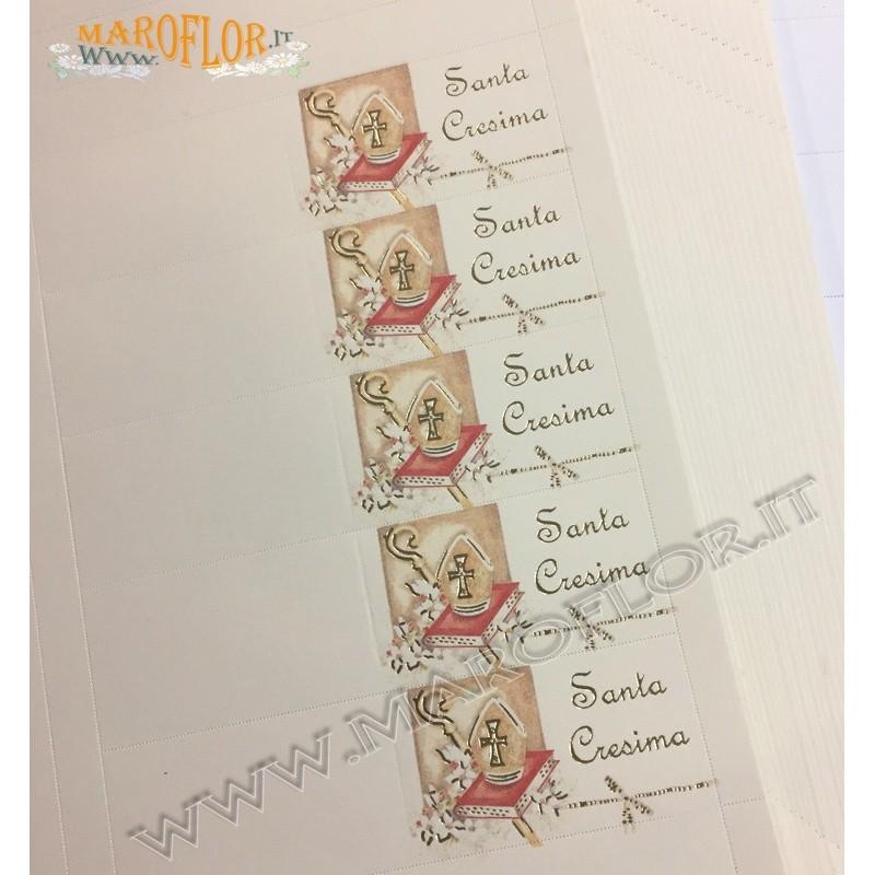 10 Bigliettini Bomboniere per Bimbi cm 9,5x2,5 da stampare al pc o scrivere a mano Battesimi o Nascite