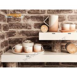 Bomboniera Claraluna 18292 Outlet Set 2 Tazze con Vassoio 20cm in Porcellana Stock fine serie