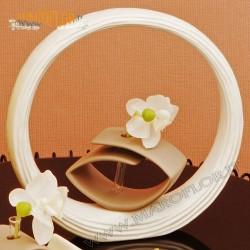Bomboniera Claraluna 19085 Diffusore Cerchio 26cm con Orchidea e Profumo con Astuccio