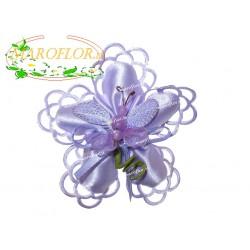 Coccarda con Farfalla Glicine Bomboniere Segnaposti Ringraziamenti con 5 Confetti Orefice