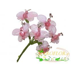Fiore Farfalla in Organza colore Rosa per Bomboniere e Confezioni