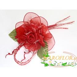 FIORE Rosso Bomboniere con Confetti Segnaposti Ringraziamenti Portaconfetti