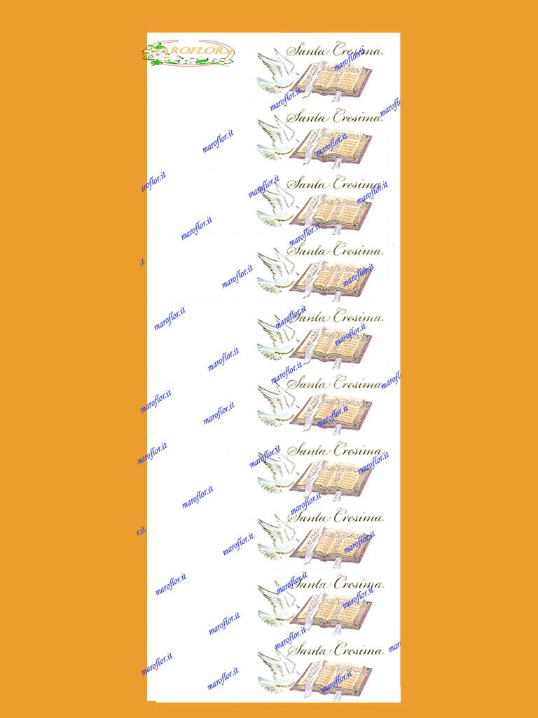 Connu 10 Bigliettini Bomboniere per Cresima cm 9,5x2,5 da stampare al pc  JD46