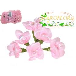 72 FIORI in ORGANZA con PERLA Rosa 3 cm MAROFLOR