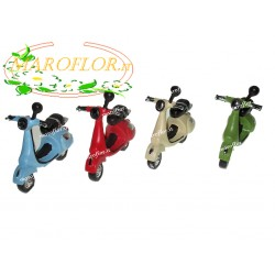 Bomboniere Vespa Scooter 7 cm in resina 4 assortite