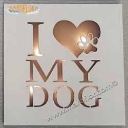 Bomboniera Claraluna 19L7 Pannello Quadretto Led I Love My Dog