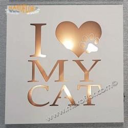 Bomboniera Claraluna 19L8 Pannello Quadretto Led I Love My Cat