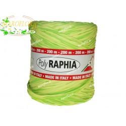 Raffia Bicolor Verde chiaro e scuro 200 metri per Bomboniere, Fiori, Regali