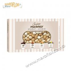 Confetti Maxtris sfumati Avorio 1kg Mandorla avvolta cioccolato 4 gusti