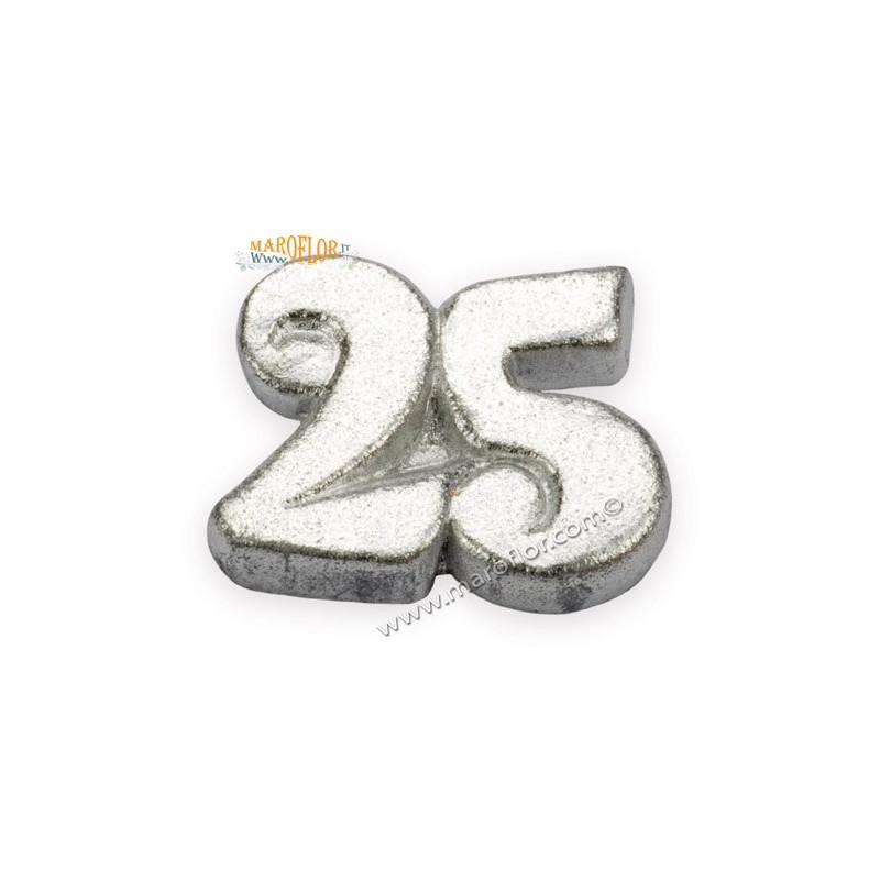 25 Matrimonio Anniversario.Gessetto Nozze Argento 25 Anni Matrimonio Anniversario B Gs A2221 E