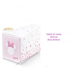 Astuccio Minnie Fetta Torta 8cm bianca e rosa Disney