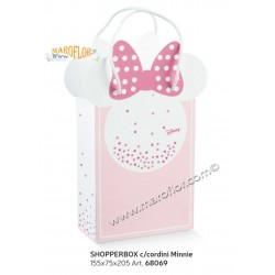 Astuccio Minnie ShopperBox 20cm Shop bianca e rosa Disney