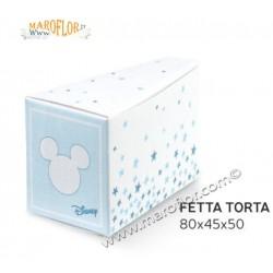 Astuccio Topolino Mickey Fetta Torta 8cm bianca e rosa Disney