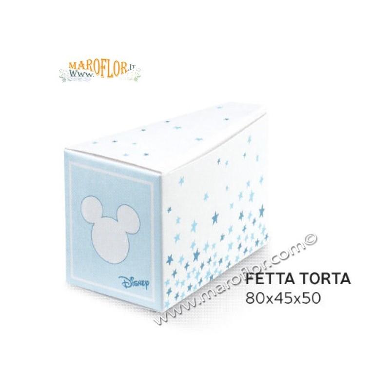 Scatola Bomboniera Astucci Fetta Torta Topolino Mickey