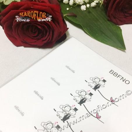 20 Bigliettini Bomboniere Nozze Sposi prefustellati x Matrimoni su cartoncino