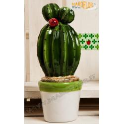 Outlet Bomboniera Claraluna 17173 Stock Cactus in Ceramica grande 23cm