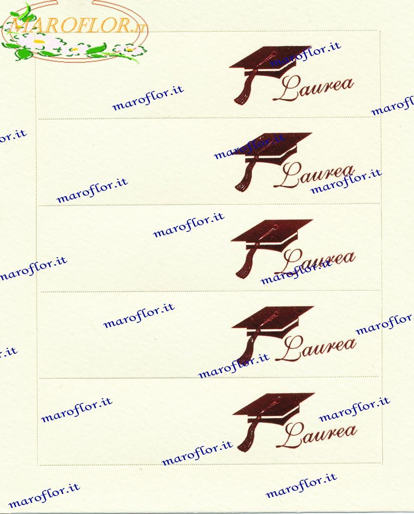Segnaposto Con Nome Da Stampare 5 bigliettini bomboniere laurea prefustellati da stampare al pc o s
