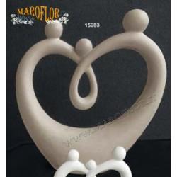 Outlet Bomboniere Claraluna 15983 Sacra Famiglia Stilizzata 26,5cm Porcellana Tortora Stock