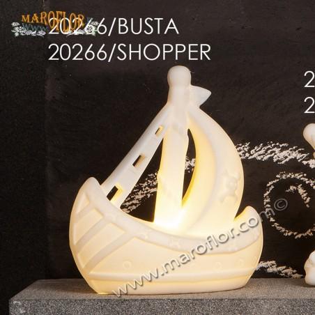 Bomboniera Claraluna CL20266 Galeone con Led 12cm
