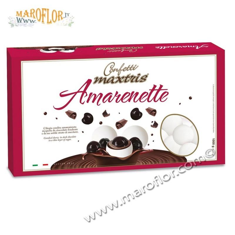 Confetti Maxtris Amarenette 1kg bianco con Ciliegie Candite amarenizzate