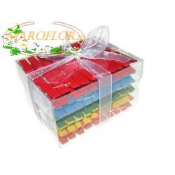 100 Mollette in Legno 35mm Colorate in astuccio trasparente
