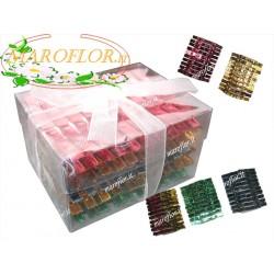 100 Mollette Metallizzate 35mm Colorate in astuccio trasparente