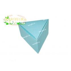 Triangolo Astuccio Bomboniera per Torte 6,5cm Azzurro Celeste