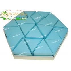 Torta Bomboniere Vuota Azzurra Celeste 24 Triangolini